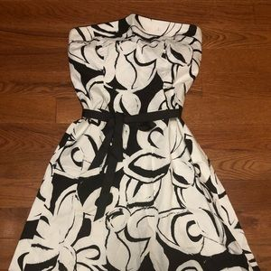 MAURICES - strapless tea length dress, size large.
